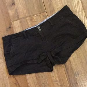 American Eagle flat front khaki short shorts